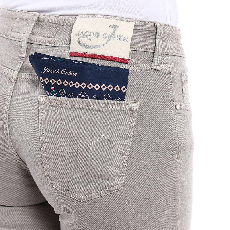 Jacob Cohen Jeans Cotone Cinque Tasche con Logo Applicato sul Retro