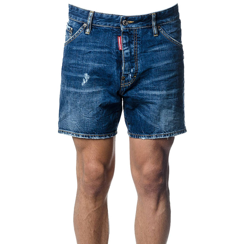 Pantalones Cortos Hombre Dsquared2 Pantalones Cortos Dsquared2 Hombre Denim Pantalones Cortos Dsquared2 S74mu0486 Stn757 Giglio Es