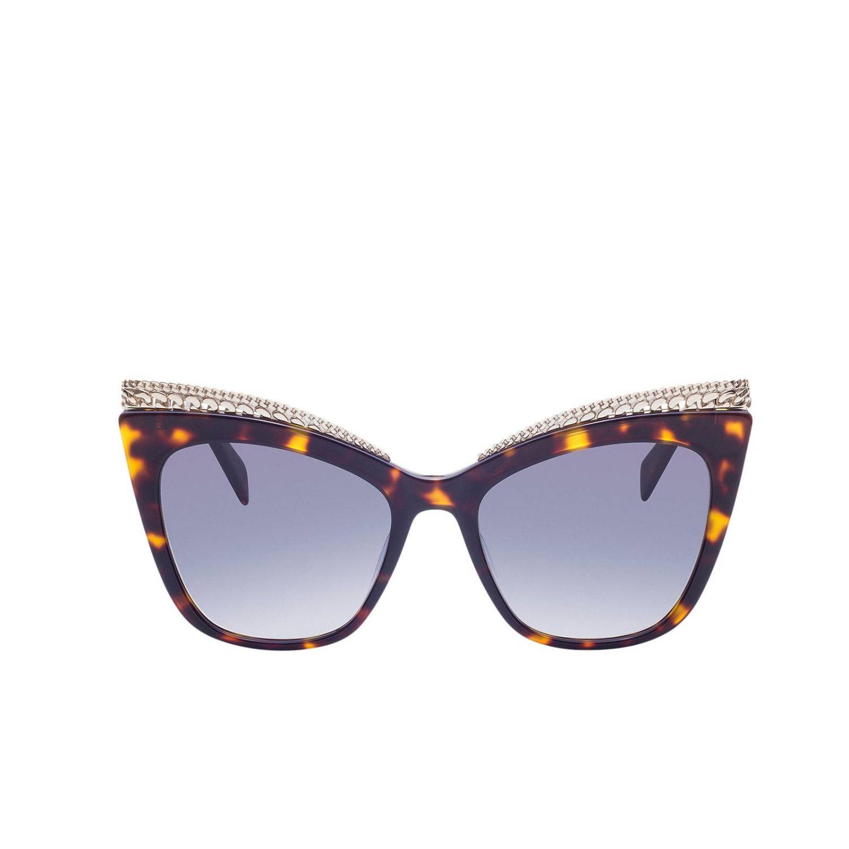Occhiali Moschino: Occhiali da sole MOS009 in metallo e acetato a fantasia marrone 2