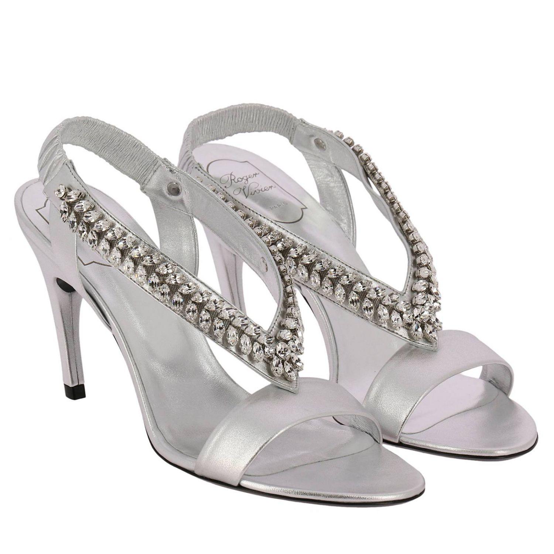 Heeled sandals Roger Vivier: Shoes women Roger Vivier silver 2