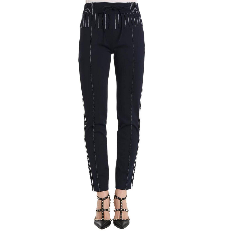 Pantalon femme Valentino bleu 1