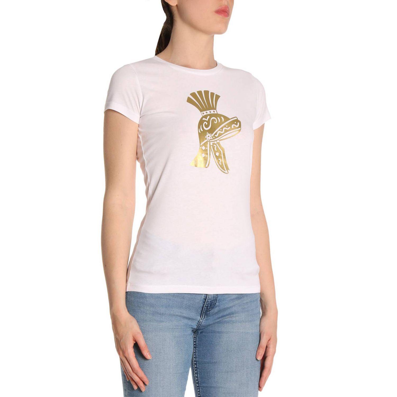 T-shirt Ni Ma Bi: T-shirt in puro cotone a maniche corte con stampa Scipio bianco 2