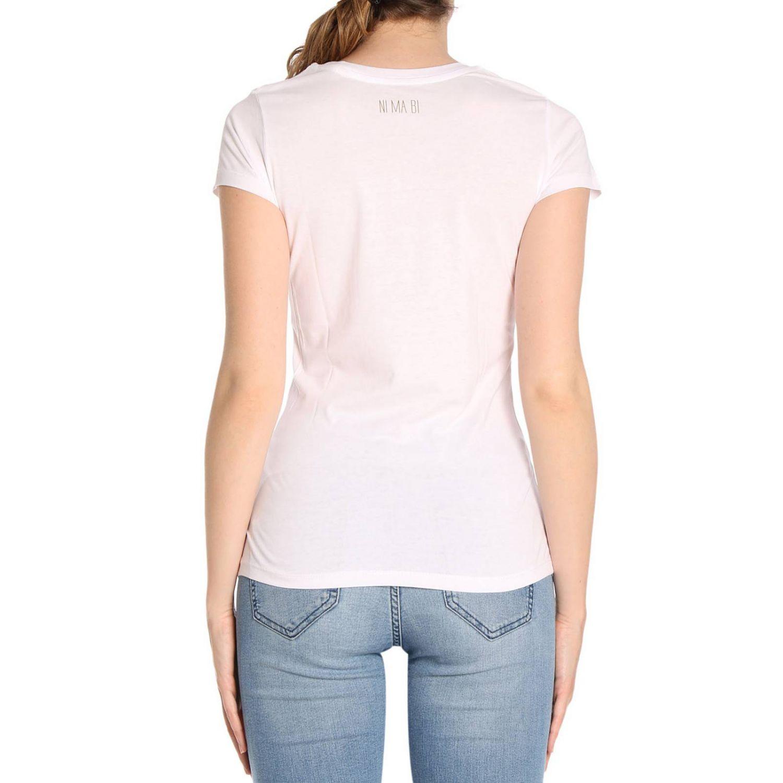 T-shirt Ni Ma Bi: T-shirt in puro cotone a maniche corte con stampa Scipio bianco 3
