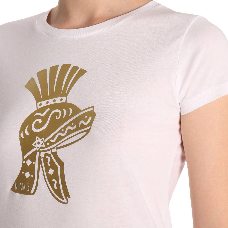 T-shirt Ni Ma Bi: T-shirt in puro cotone a maniche corte con stampa Scipio bianco 4
