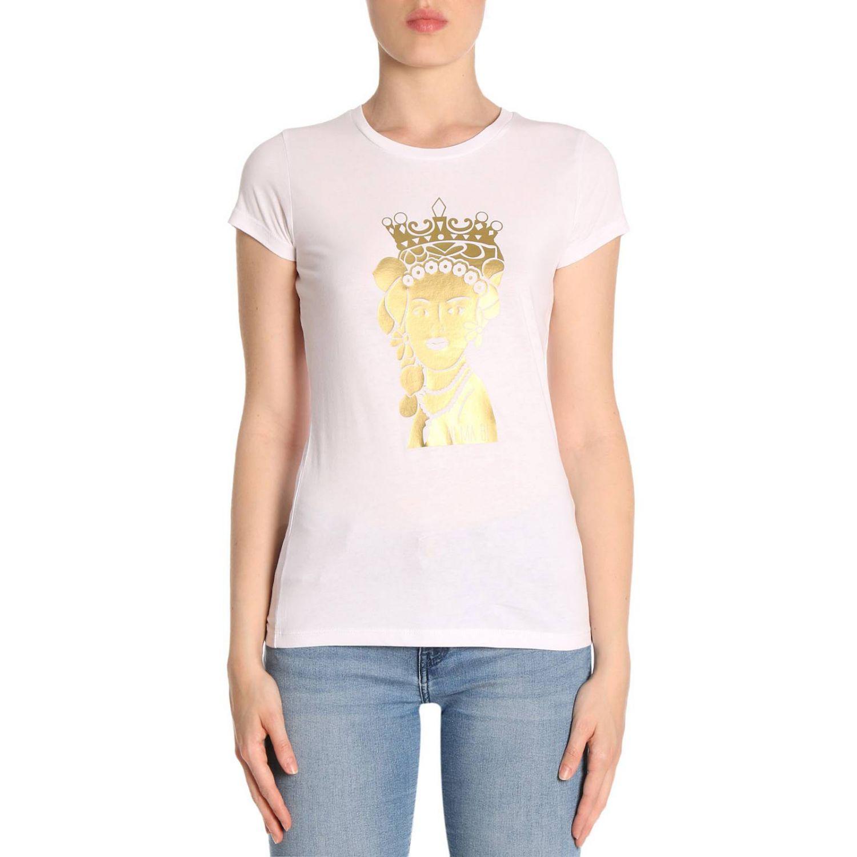 T-shirt damen Ni Ma Bi weiß 1