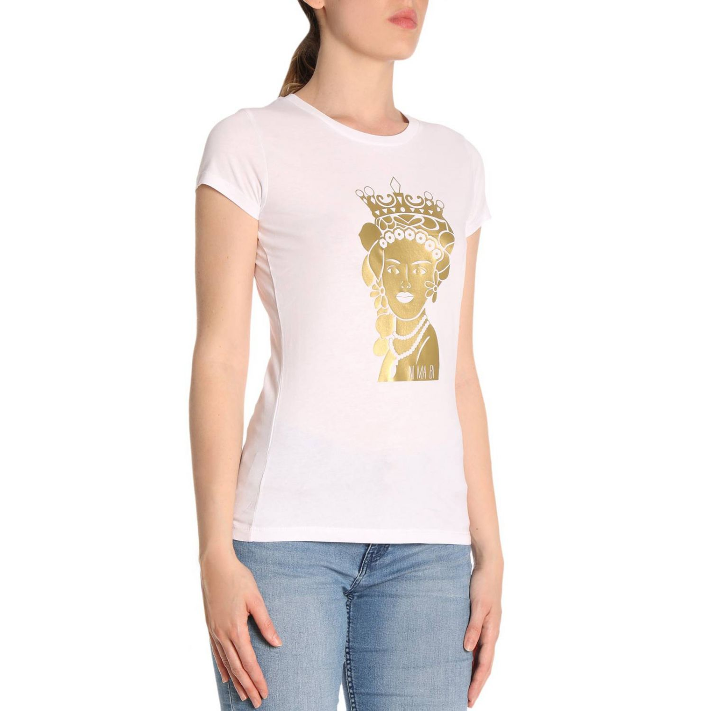 T-shirt damen Ni Ma Bi weiß 2