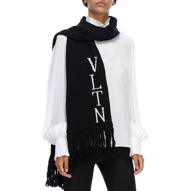 Écharpe Valentino Garavani: écharpe femme Valentino Garavani noir 1
