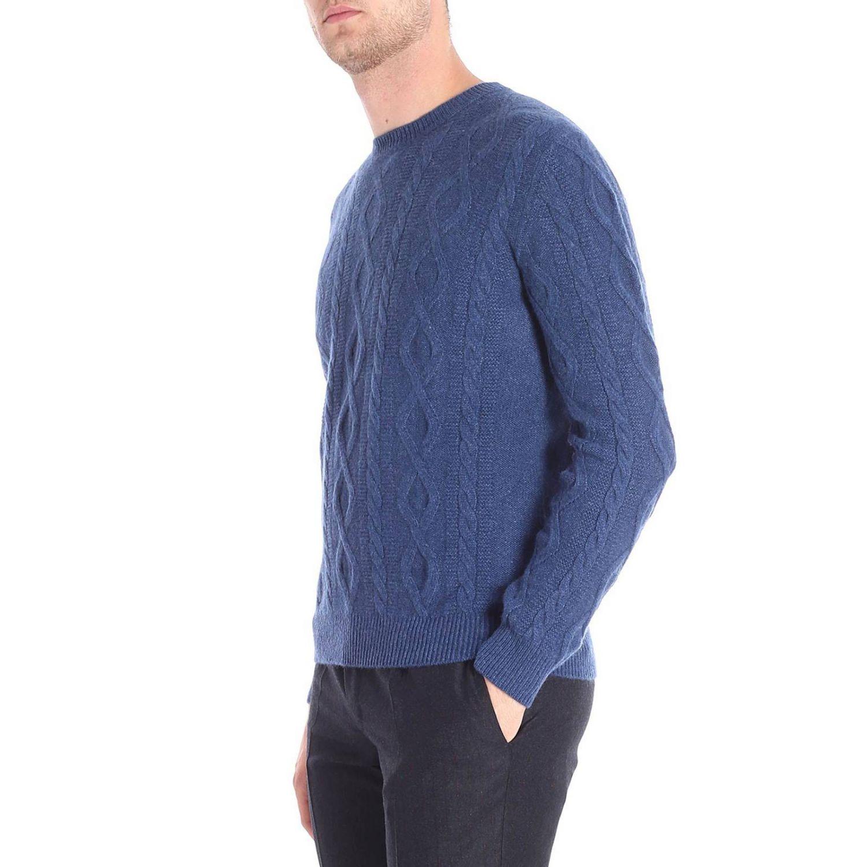 Maglia a girocollo con maniche lunghe basic blue 2