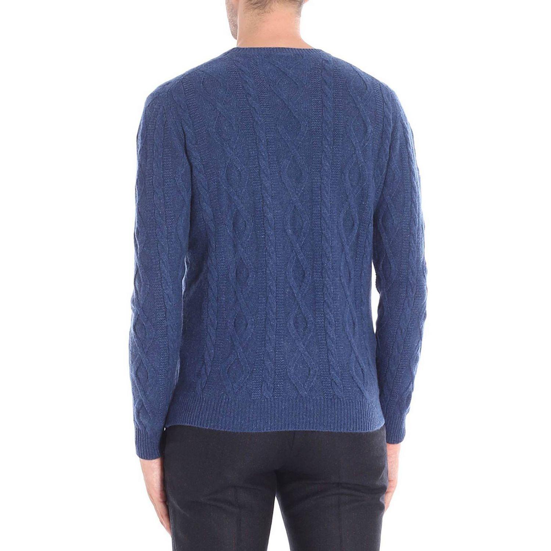 Maglia a girocollo con maniche lunghe basic blue 3