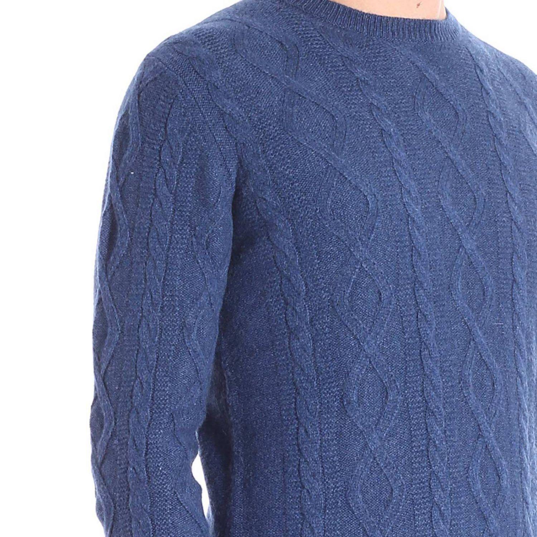 Maglia a girocollo con maniche lunghe basic blue 4