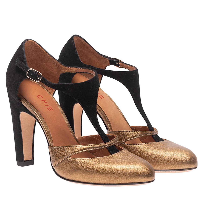 Туфли на каблуке Chie Mihara: Обувь Женское Chie Mihara золотой 2