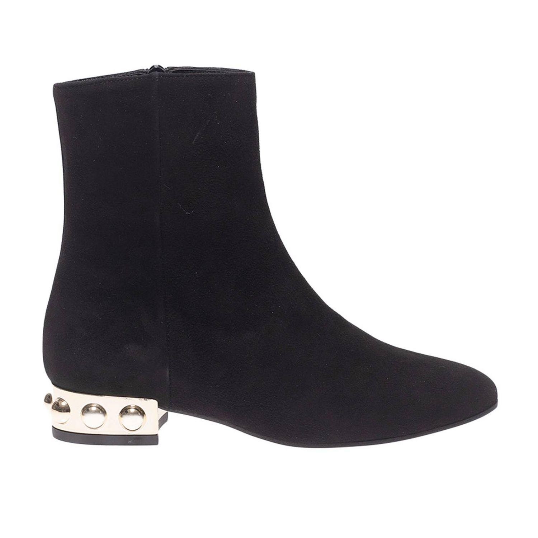 Bottines plates Marc Ellis: Chaussures femme Marc Ellis noir 1