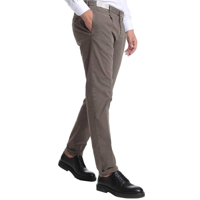 Pantalone classico con tasche america tortora 2