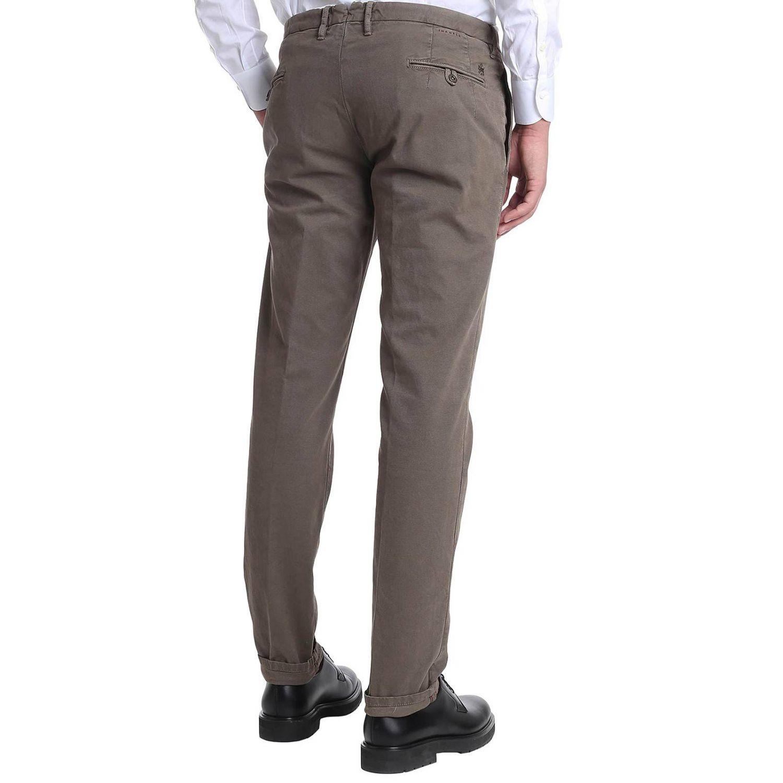 Pantalone classico con tasche america tortora 3