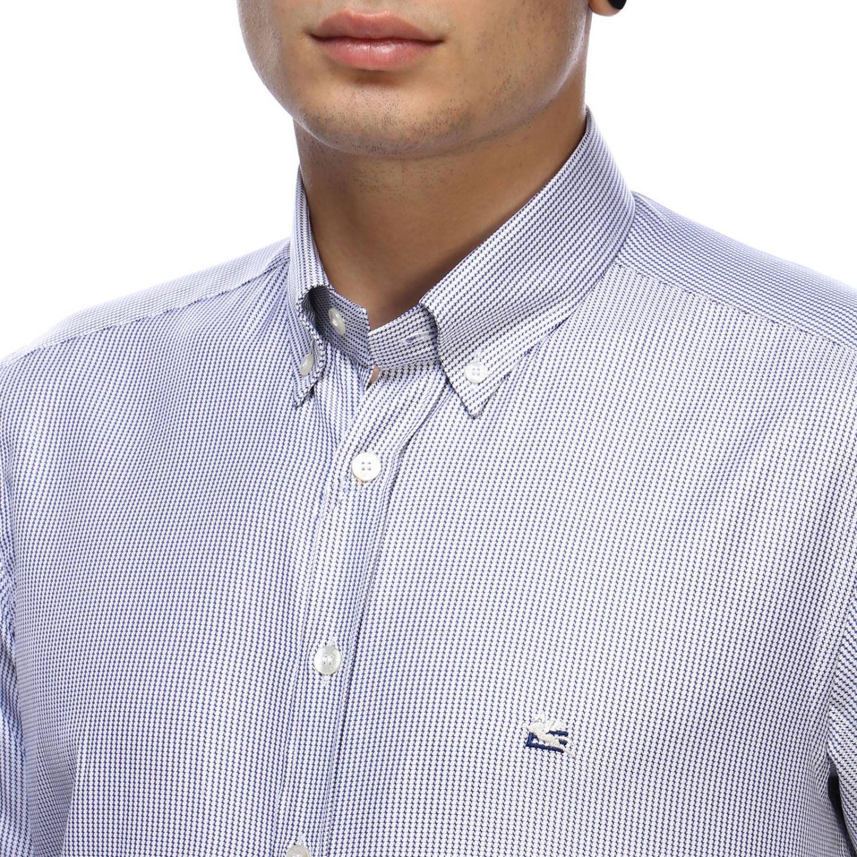 Shirt men Etro sky blue 4