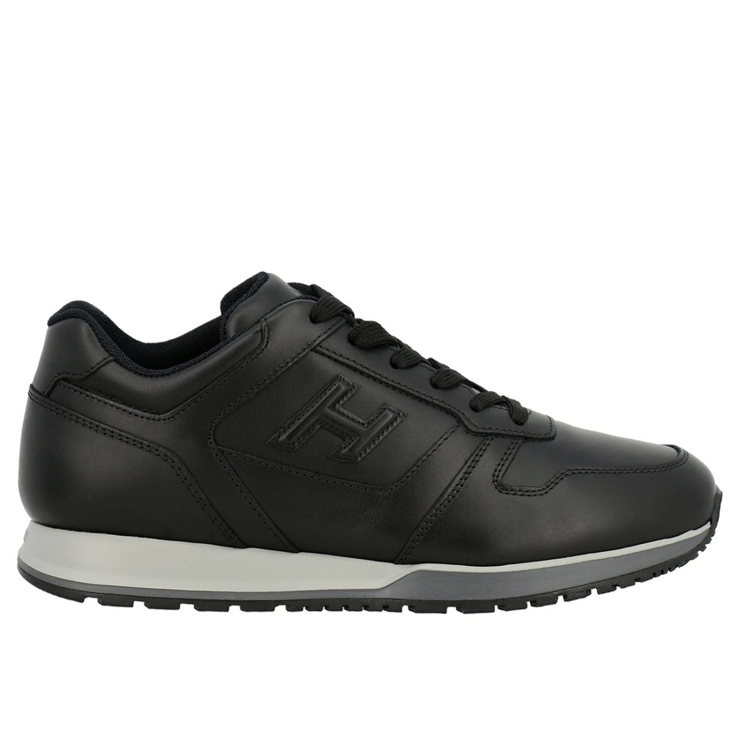 Sneakers Rebel 321 in pelle con H in 3D nero 1