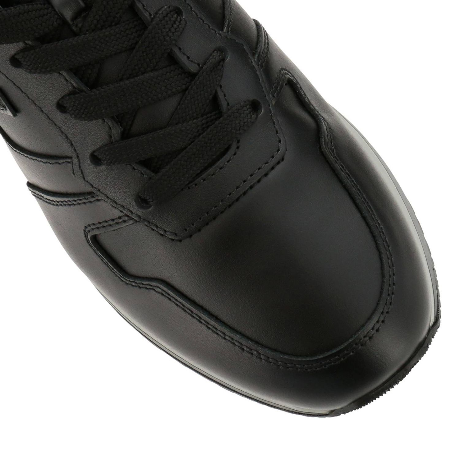 Sneakers Rebel 321 in pelle con H in 3D nero 3