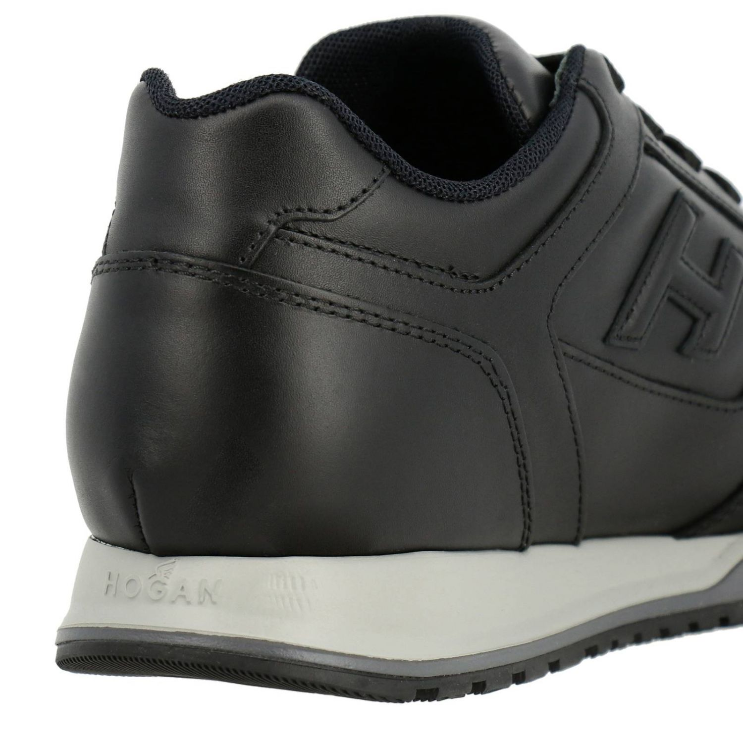 Sneakers Rebel 321 in pelle con H in 3D nero 4