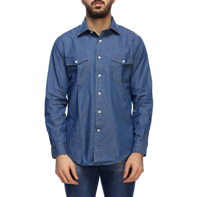 Рубашка Мужское Brooks Brothers серо-бежевый 1