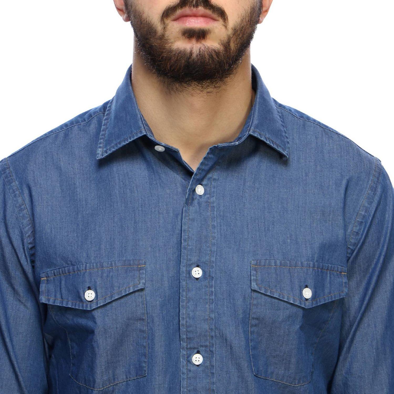 Рубашка Мужское Brooks Brothers серо-бежевый 4