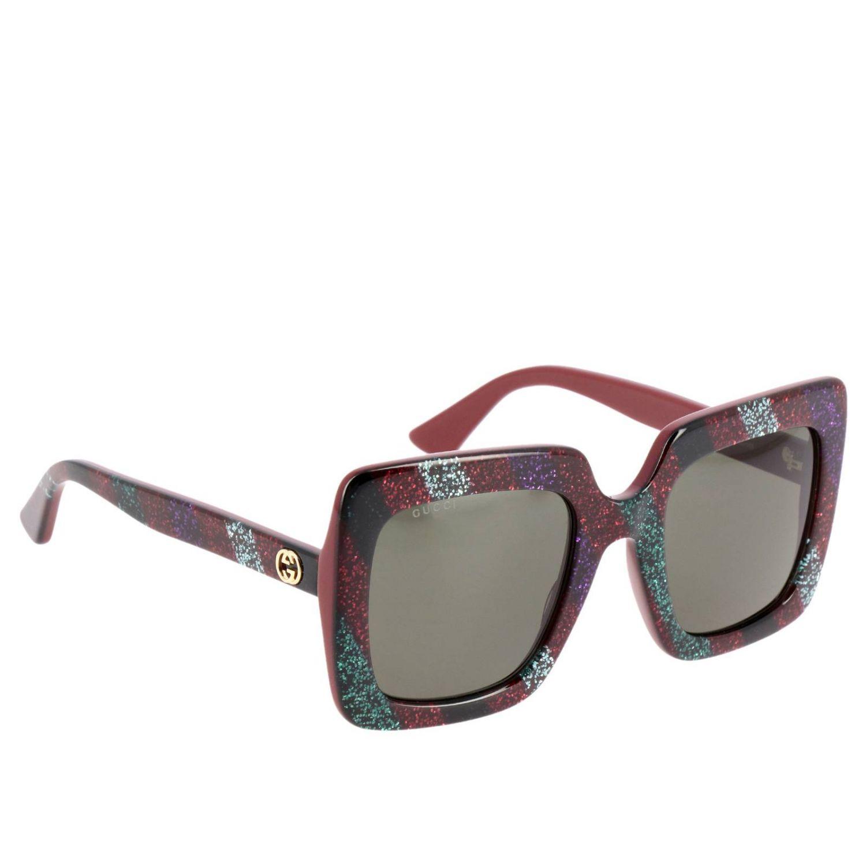 Glasses Gucci: Sunglasses women Gucci black 1
