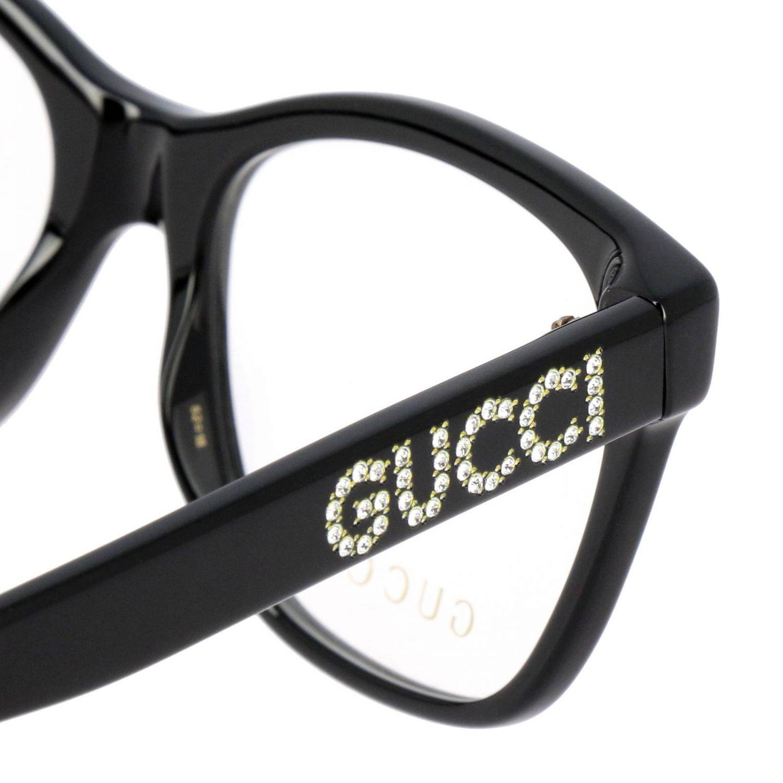 Glasses Gucci: Sunglasses women Gucci white 3