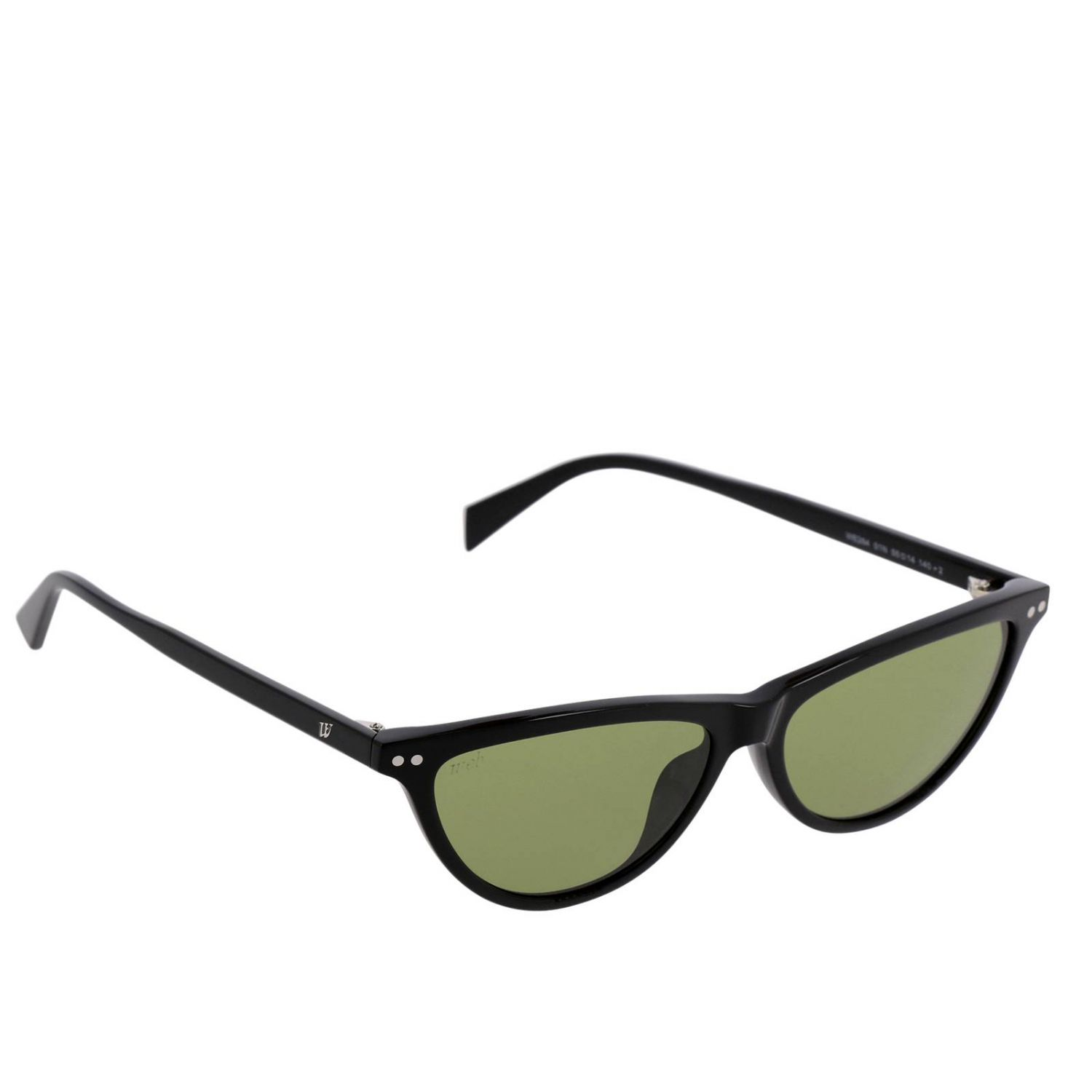 Sunglasses women Web acid green 1