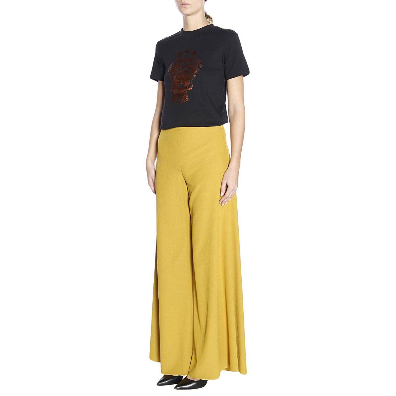 T-shirt Dorotea in puro cotone con maxi stampa bronzata nero 2