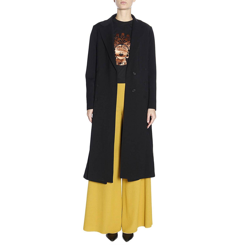 T-shirt Dorotea in puro cotone con maxi stampa bronzata nero 4
