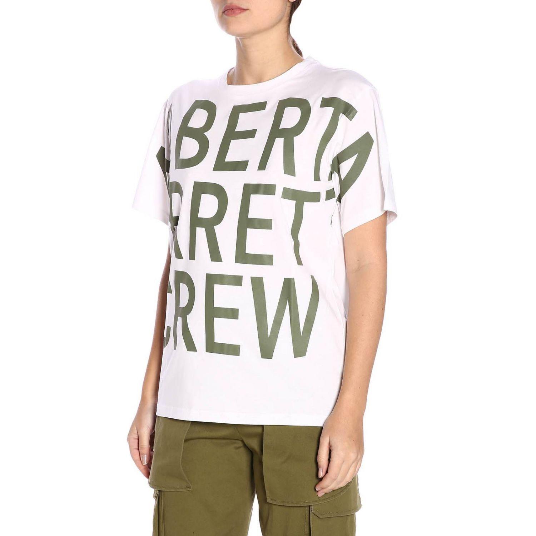 T-shirt a maniche corte con maxi stampa Alberta Ferretti Crew bianco 2