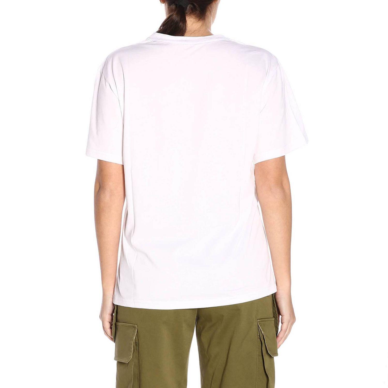 T-shirt a maniche corte con maxi stampa Alberta Ferretti Crew bianco 3