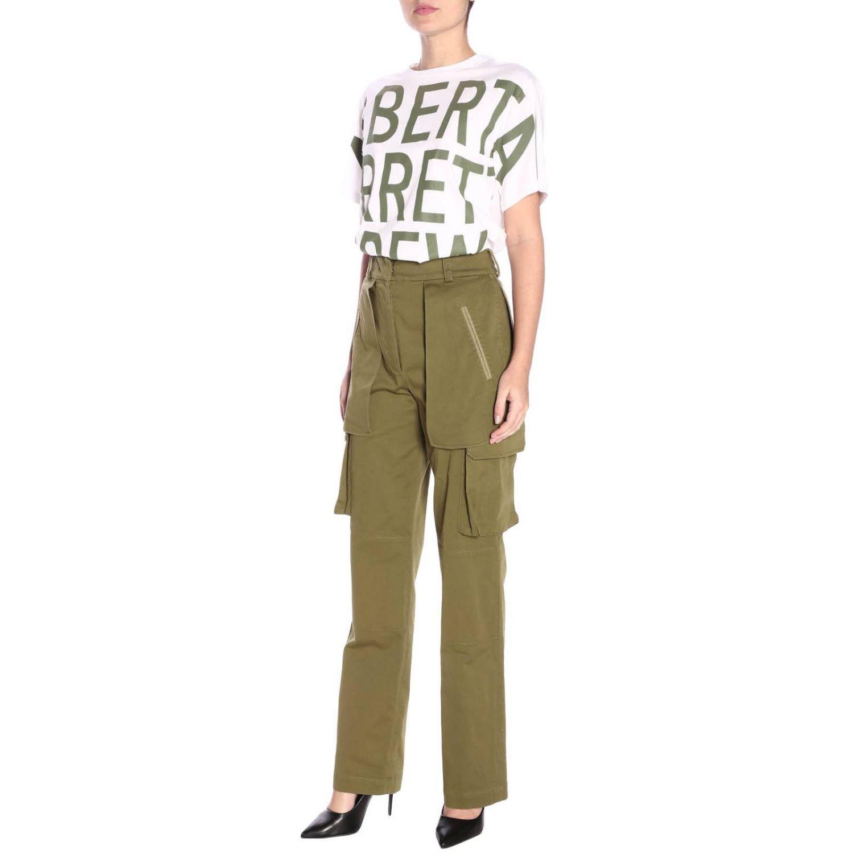 T-shirt a maniche corte con maxi stampa Alberta Ferretti Crew bianco 4