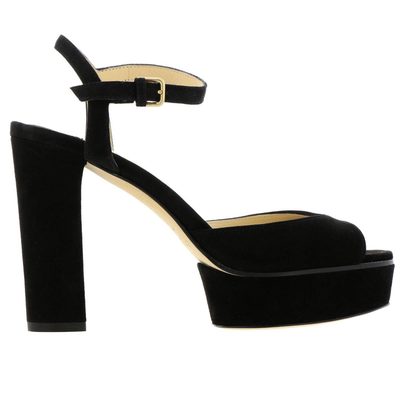 Босоножки на каблуке Женское Jimmy Choo черный 1