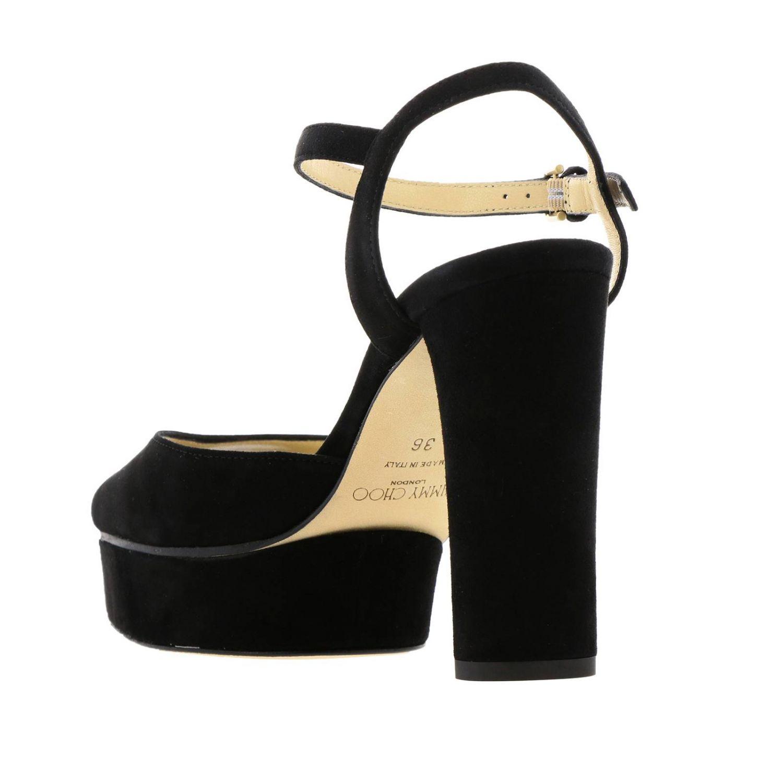 Босоножки на каблуке Женское Jimmy Choo черный 3