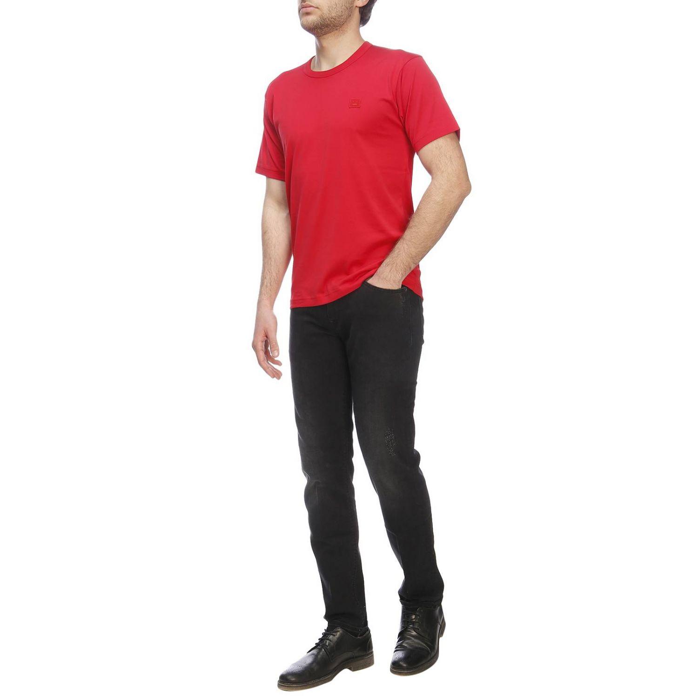 Camiseta hombre Acne Studios rojo 4