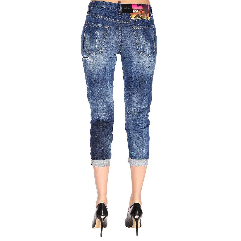Jeans in misto cotone stretch used con rotture a 5 tasche blue 3