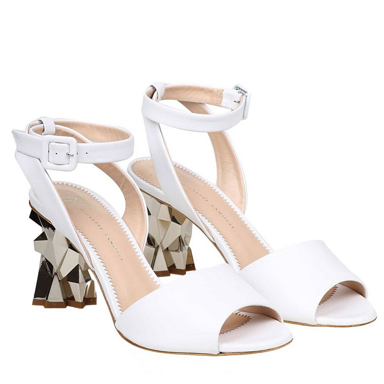 Босоножки на каблуке Женское Giuseppe Zanotti Design белый 2