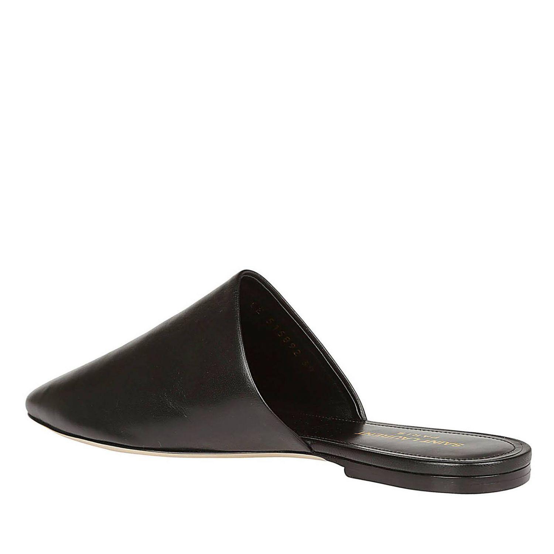 Sandalo classico a punta in vera pelle liscia nero 3