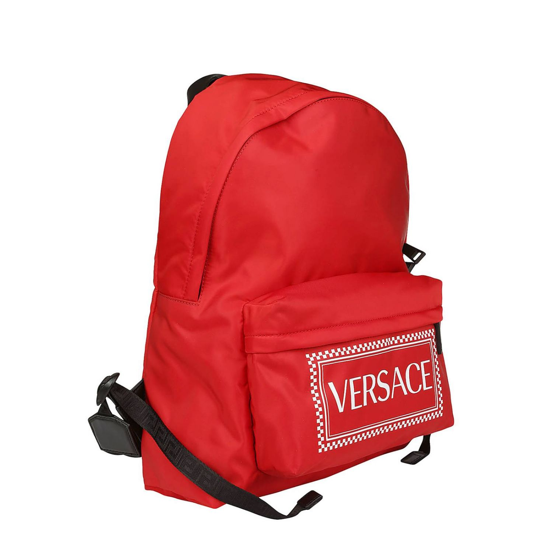 Backpack men Versace red 2