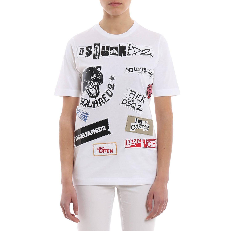 T-shirt donna Dsquared2 bianco 1