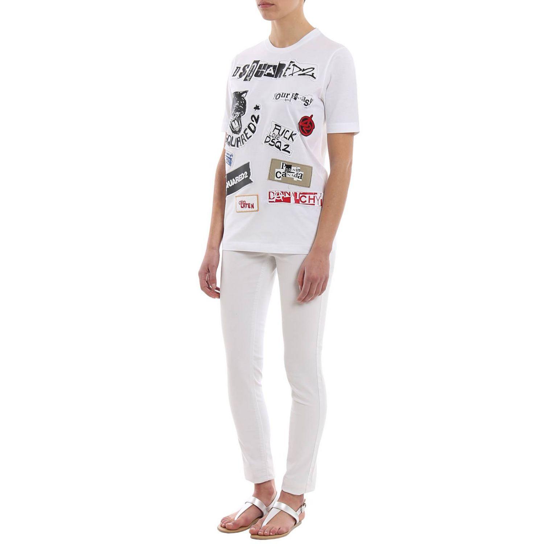 T-shirt donna Dsquared2 bianco 4