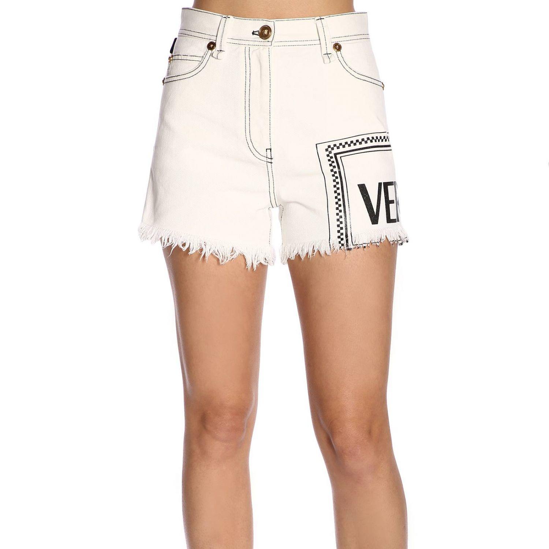 Short women Versace white 1