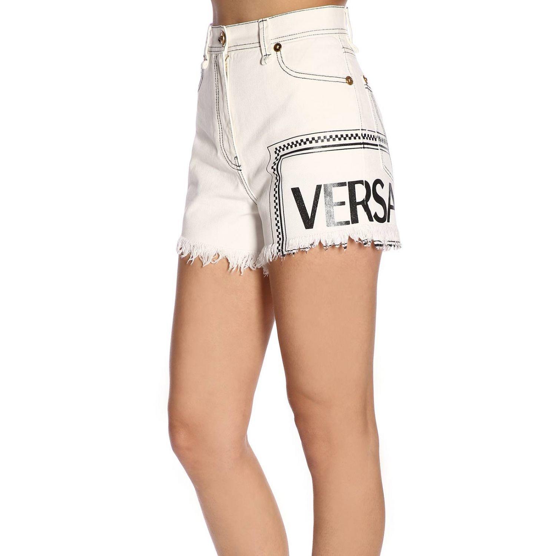 Short women Versace white 2