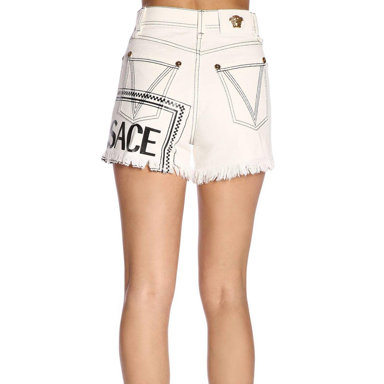 Short women Versace white 3