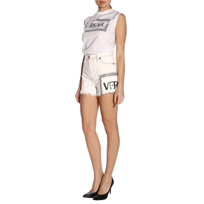 Short women Versace white 4