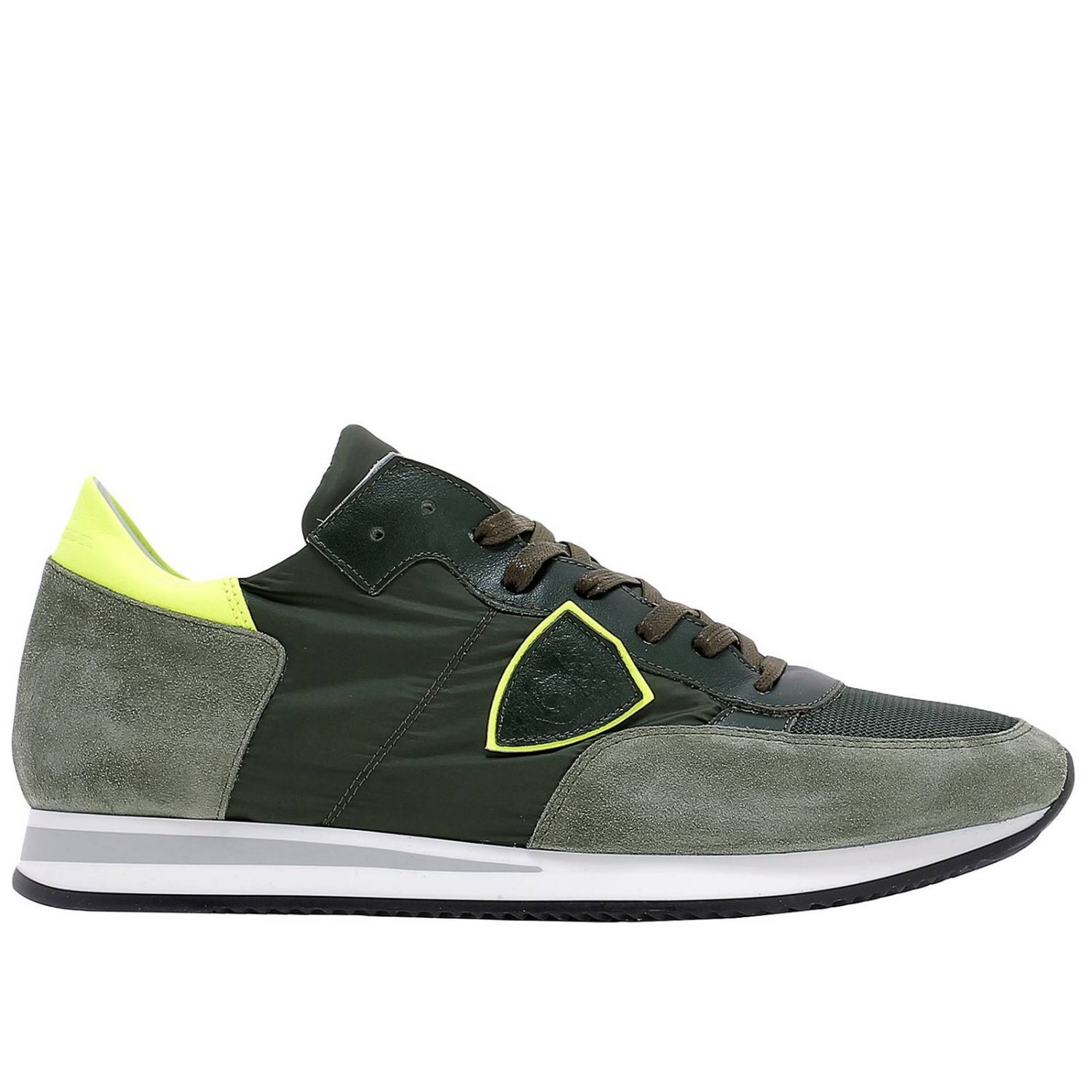 Baskets Philippe Model: Chaussures homme Philippe Model vert acide 1