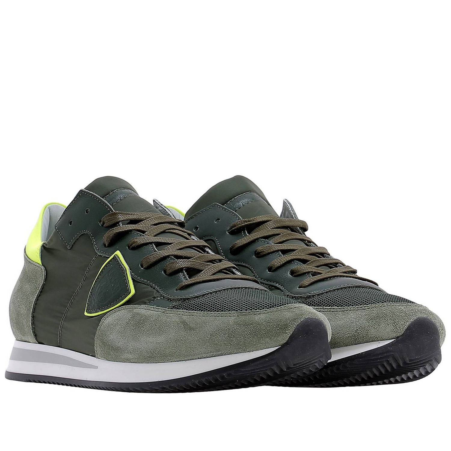Baskets Philippe Model: Chaussures homme Philippe Model vert acide 2