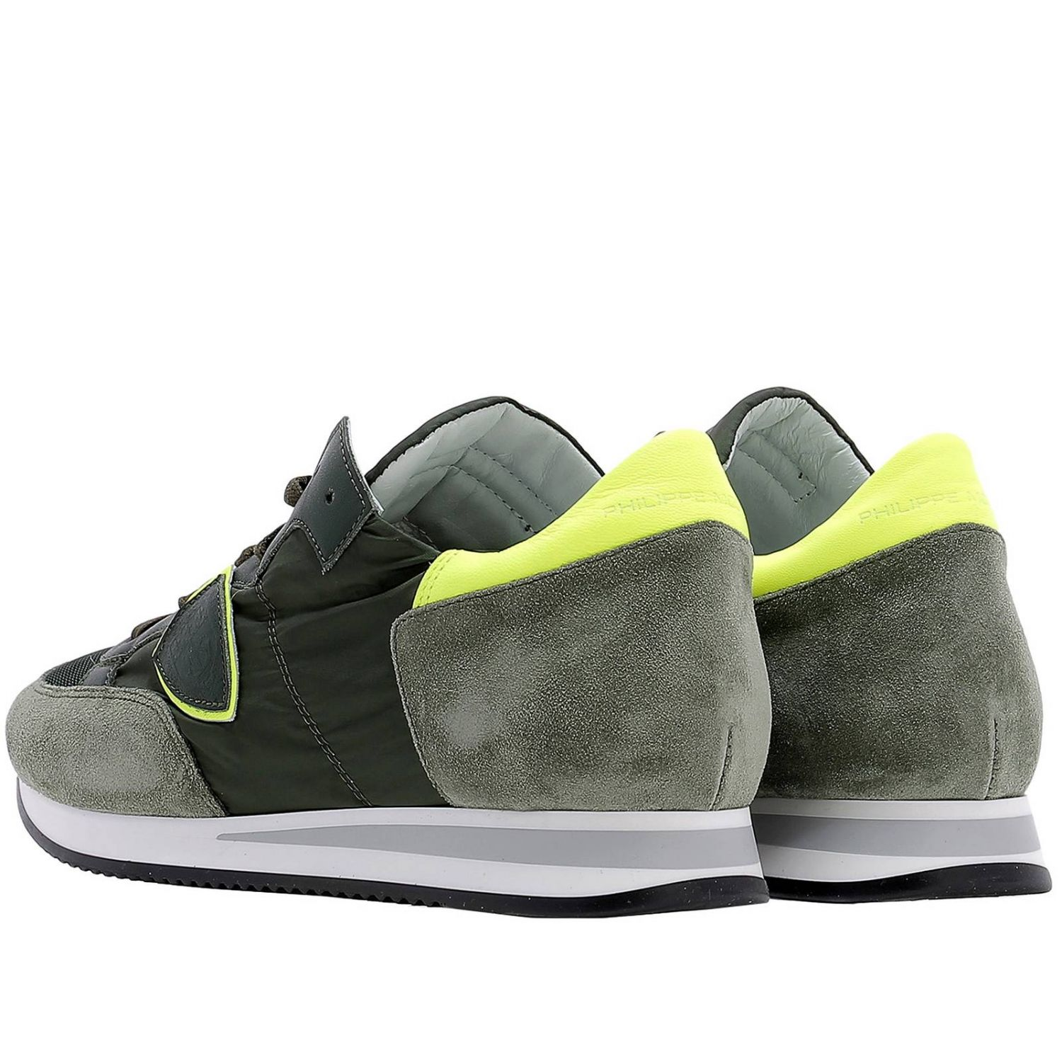 Baskets Philippe Model: Chaussures homme Philippe Model vert acide 3