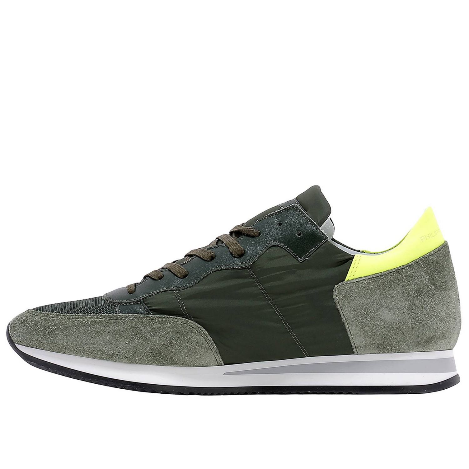 Baskets Philippe Model: Chaussures homme Philippe Model vert acide 4