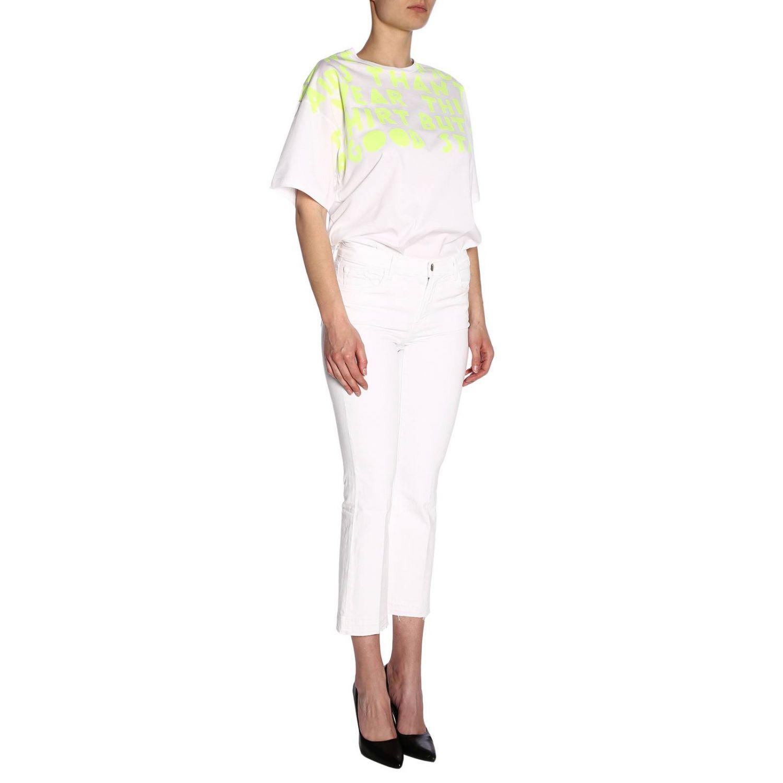 T-shirt femme Maison Margiela jaune 4